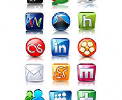High Detail Gloss 3D Social icons