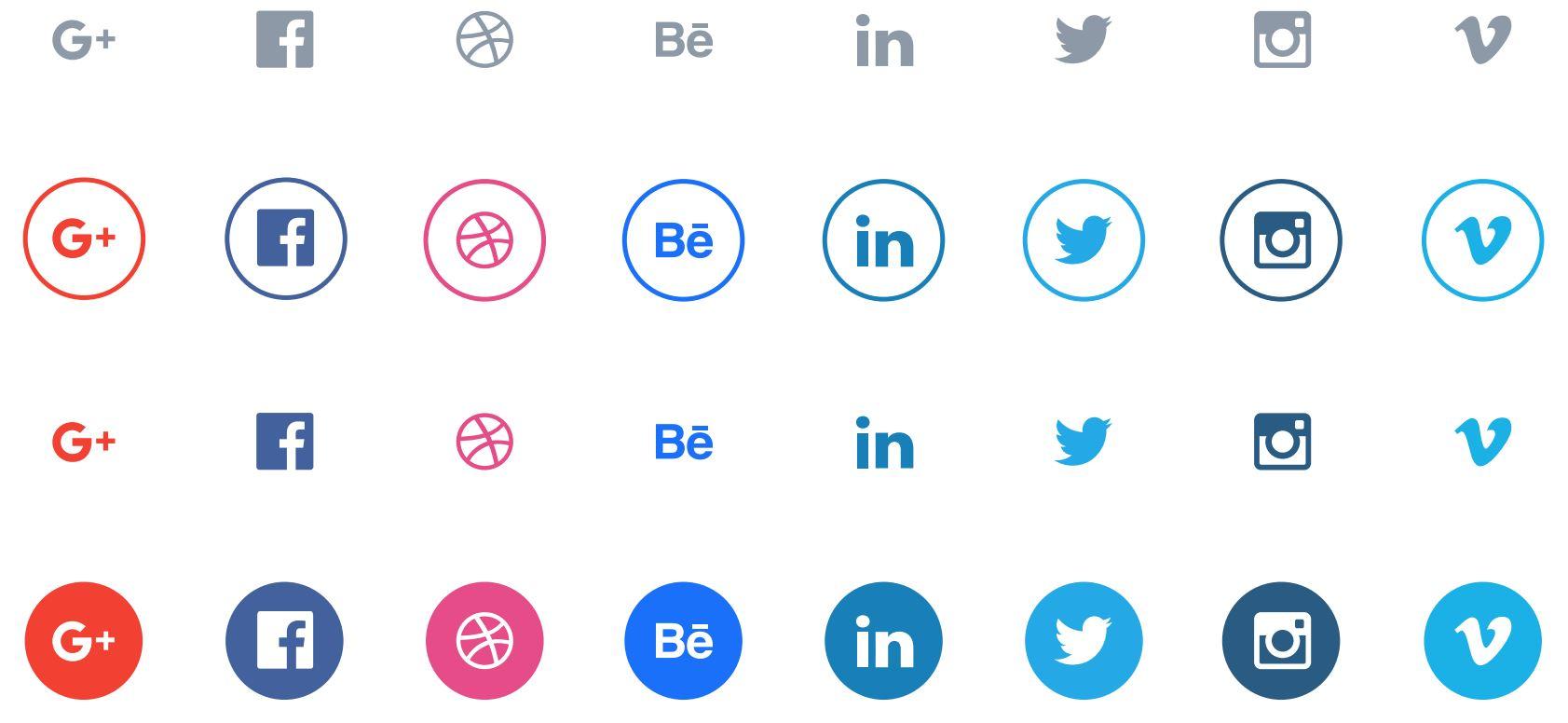 Free Circular Social Media Icons Pack