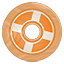 Designfloat icon made of wood