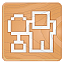 Digg icon made of wood