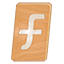 Facebook Icon Made of Wood