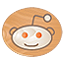 Reddit icon made of Wood