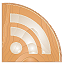 RSS Icon Made of Wood