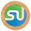 Stumbleupon icon made of wood